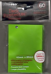Sleeves Small - Lime Green 60ct Ultra Pro