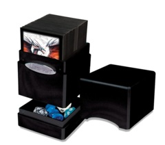 MIDNIGHT METALLIC SATIN TOWER DECK BOX