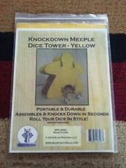 Knockdown Meeple Dice Tower - Yellow