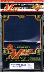 KMC Mat Series 80 count Sleeves - Mat Dark Blue