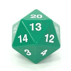 Jumbo D20 55mm Spin Down Die Green