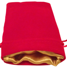 MDG Red w/Gold Dice Bag