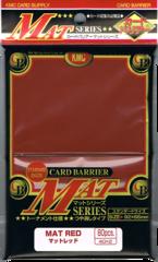 KMC Mat Series 80 count Sleeves - Mat Red