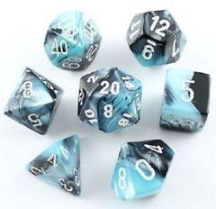 Gemini Black-Shell / White 7 Dice Set