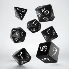Classic RPG Dice Set (7 pc.) Black/White