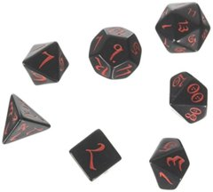 Classic RPG Dice Set (7 pc.) Black/Red