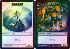 Angel // Demon Token Helvault Promo Foil