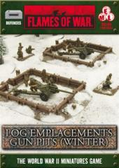 Log Emplacements - Gun Pit Markers (winter)