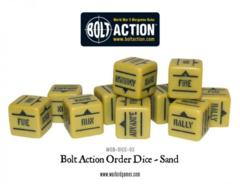 Bolt Action Orders Dice - Sand