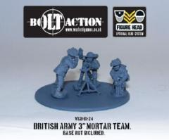 British Army 3'' Mortar Team