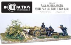 German: Fallschirmjager PAK 40 + Crew