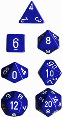 Blue Opaque Dice CHX25406