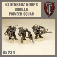 AX234  BLUTKREUZ KORPS GORILLA PIONEER SQUAD