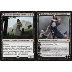 Liliana, Heretical Healer // Liliana, Defiant Necromancer - Foil - Prerelease Promo