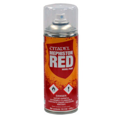 (62-15) Citadel Spray Paint: Mephiston Red