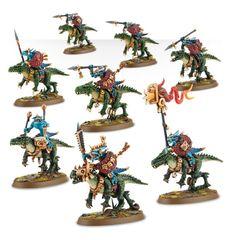 (88-11) Lizardmen Saurus Cavalry / Saurus Knights