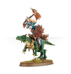 Lizardmen Saurus Oldblood on Cold One