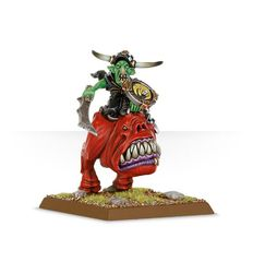 Grot Warboss on Great Cave Squig