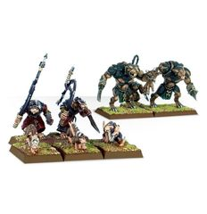 (90-13) Skaven Rat Ogres and Giant Rats