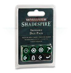 (110-11) Warhammer Underworlds: Shadespire - Ironjawz Dice Pack