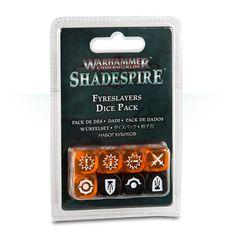 (110-14) Warhammer Underworlds: Shadespire – Fyreslayers Dice Pack