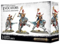 (96-41) Stormcast Eternals Evocators on Celestial Dracolines