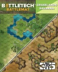 CAT35800D Battletect : Neoprene  Battlemat-  Savanna & Grasslands