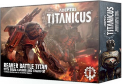 (400-23)  Adeptus Titanicus: Reaver Battle Titan with Melta Cannon & Chainfist