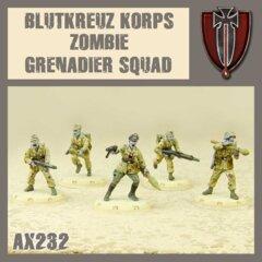 AX232    BLUTKRUEZ  KORPS  ZOMBIE   GRENADIER  SQUAD