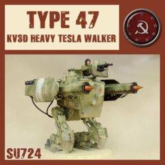 SU724  TYPE  47  KV3D HEAVY TESLA WALKER