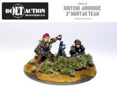 British - Paratrooper 3'' Mortar & Crew