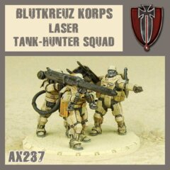 AX237  BLUTKREUZ KORPS LAZER TANK-HUNTER  SQUAD