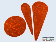 Micro Art Studios: Infinity Templates 3rd Ed. Orange (3)
