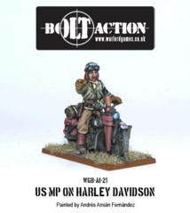 US Military Policeman on Harley Davidson Motorcycle