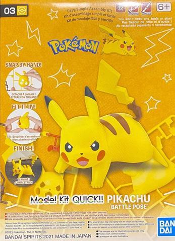 Pokemon Model Kit Quick!! 03 Pikachu Battle Pose