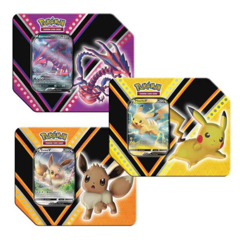 V Power Tin Set of 3 (Eternatus V, Pikachu V, & Eevee V)