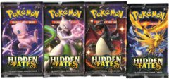 Hidden Fates - Booster Pack Art Set - 4 Booster Packs