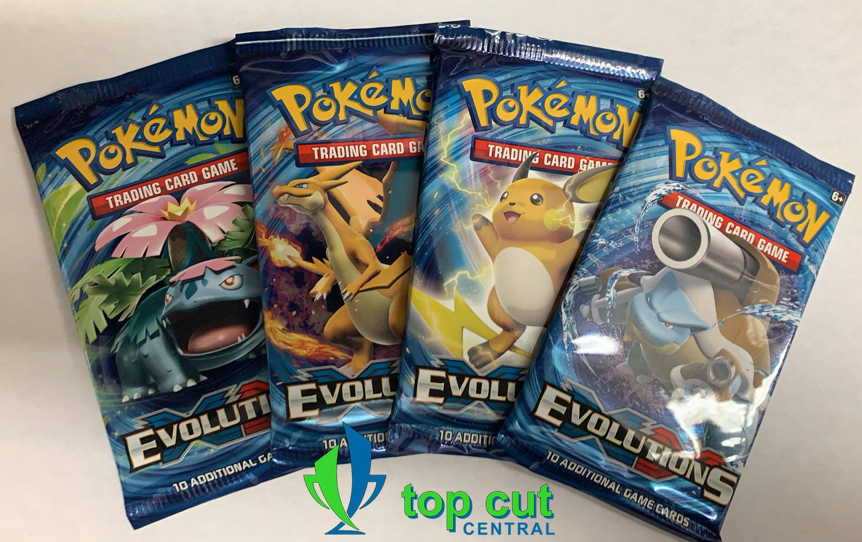 XY Evolutions - Booster Pack Art Set - 4 Booster Packs