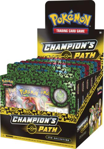 Champions Path Pin Collection Display: Turffield, Hulbury, & Motostoke Gyms
