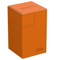 Ultimate Guard Flip'N'Tray Deck Case 100+ Standard Size Xenoskin Orange