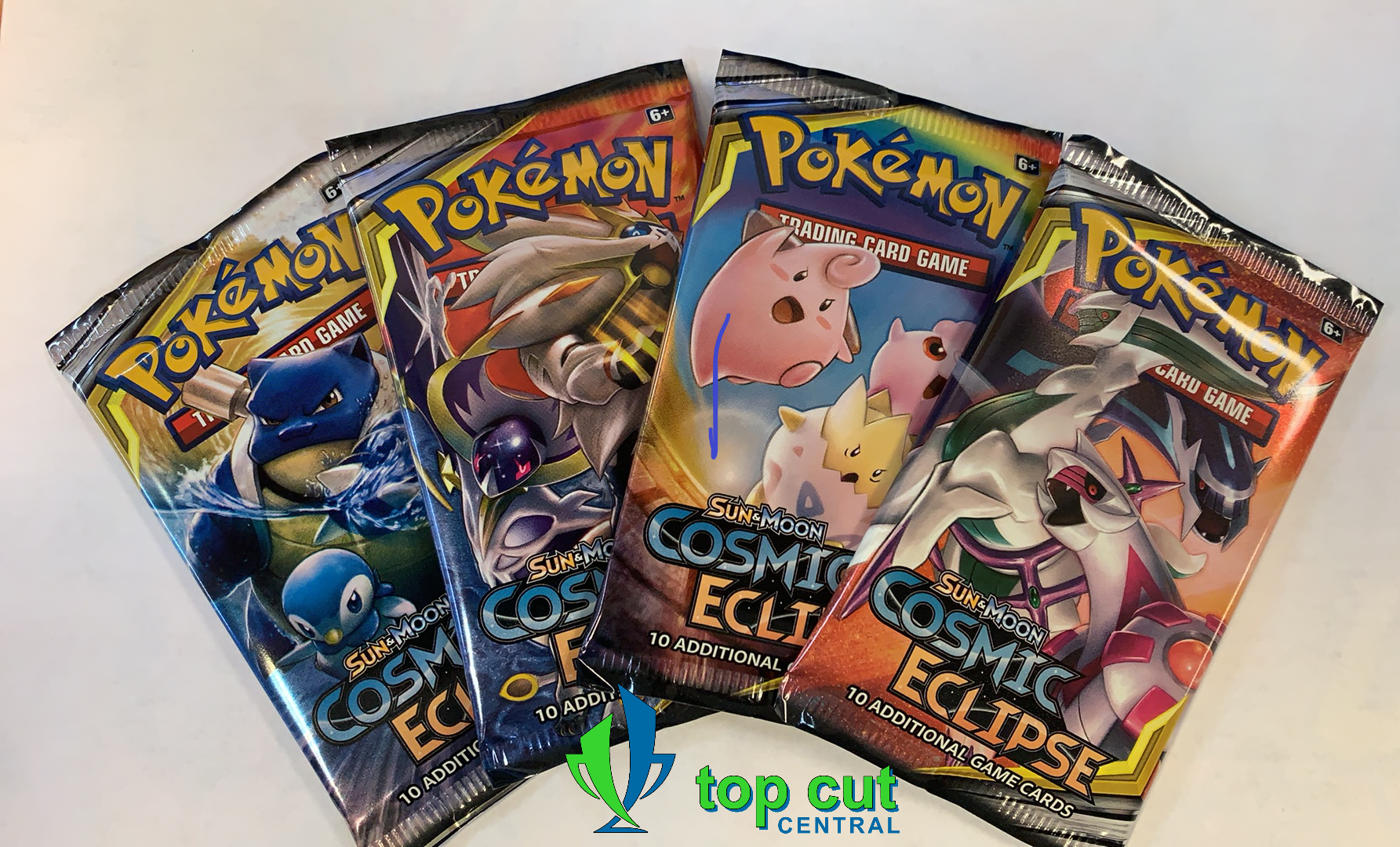 Sun & Moon Cosmic Eclipse - Booster Pack Art Set - 4 Booster Packs