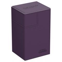 Ultimate Guard Flip'N'Tray Deck Case 80+ Standard Size Xenoskin Purple