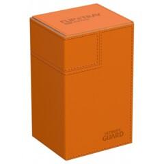 Ultimate Guard Flip'N'Tray Deck Case 80+ Standard Size Xenoskin Orange