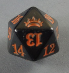 MTG Spin Down Life Counter D20 Planechase Anthology - Orange on Black