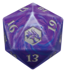MTG Oversized Spin Down Life Counter D20 Dice Adventures in Forgotten Realms Gift Edition
