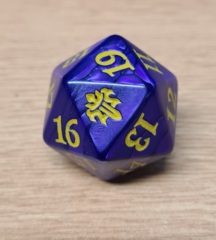 MTG Oversized Spin Down Life Counter D20 Dice Throne of Eldraine