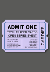 Cardiff Open Ticket - Sunday