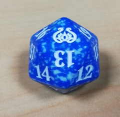 MTG Spin Down Life Counter D20 Dice Aether Revolt - Blue