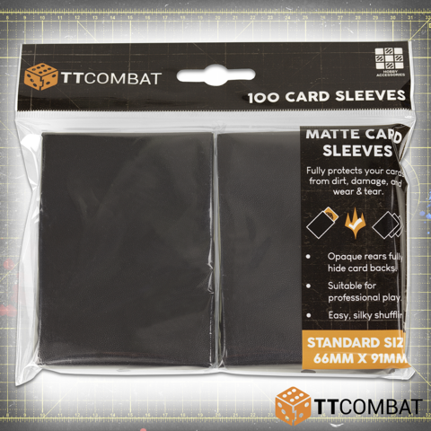 TTCombat 100 Standard Gaming Sleeves (Black)