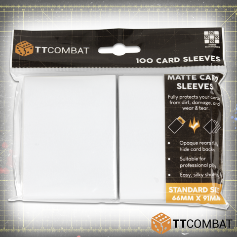 TTCombat 100 Standard Gaming Sleeves (White)